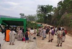 Junín: pueblo asháninka de Río Tambo inicia paro y bloquean Carretera Central en Puerto Ocopa