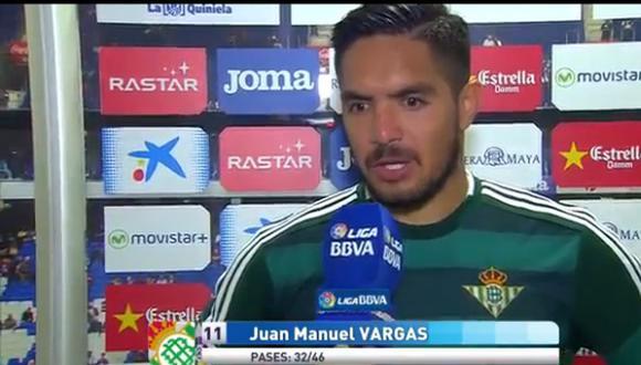 """Juan Vargas: """"Real Betis se encuentra en el camino justo"""""""