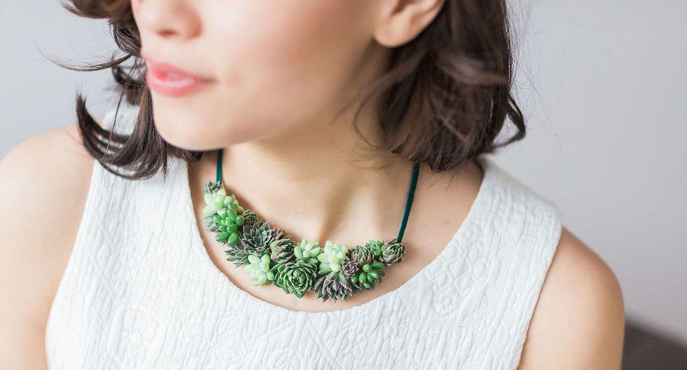 Estas piezas de joyería están hechas con plantas reales - 4