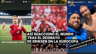 Así reaccionó el mundo del fútbol ante el desmayo de Eriksen en la Eurocopa