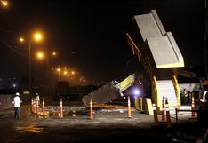 Panamericana Norte: puente peatonal fue destruido tras ser impactado por tráiler | FOTOS