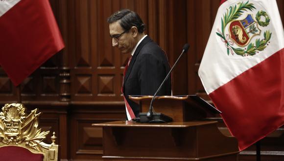 Martín Vizcarra fue vacado por 105 votos a favor, 19 en contra y 4 abstenciones (Foto: César Campos)