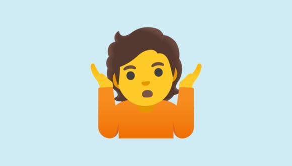 Conoce qué significa realmente el emoji de la persona encogiendo los hombros en WhatsApp. (Foto: Emojipedia)