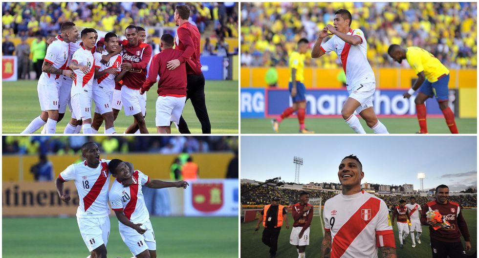 Perú ha logrado una victoria importante en las Eliminatorias Rusia 2018. Los de Gareca derrotaron a Ecuador en el estadio Olímpico Atahualpa. (Foto: AFP)