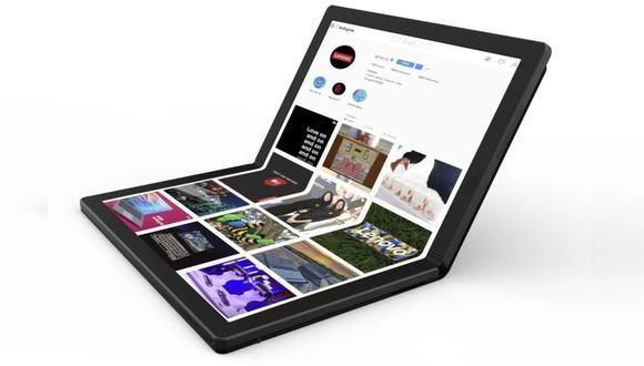 El prototipo expuesto, incluía dos puertos USB-C para periféricos, almacenamiento, teclados, ratones, monitores, entre otros. (Foto: Lenovo)