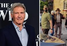 """""""Indiana Jones 5"""": Las primeras imágenes de Harrison Ford en el set de rodaje"""
