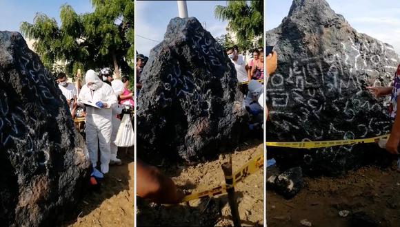 Vecinos de Barranquilla se acercaron al lugar donde estaba el supuesto meteorito. (Redes sociales).