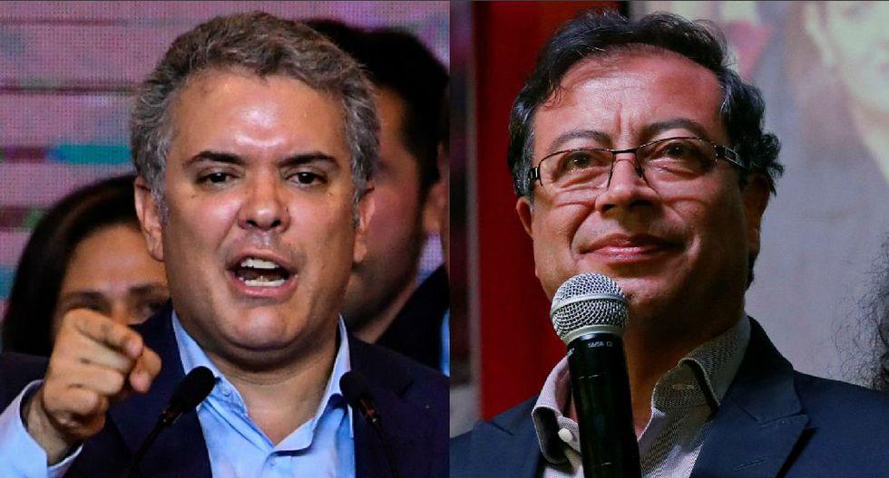 Iván Duque y Gustavo Petro fueron los dos candidatos más votados en la primera vuelta de las elecciones presidenciales de Colombia. (AFP / Reuters).
