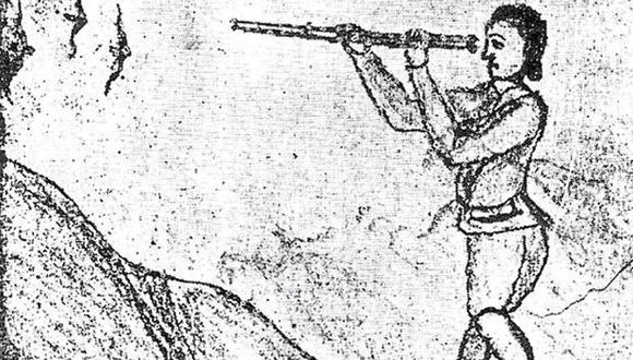 Para cuando se editó por primera vez el libro de De Cárdenas (en Chile, 1878 ) ya se habían perdido muchas láminas que él mismo dibujó. En esta se le ve, arriba, fingiéndose muerto para atraer a cóndores y carroñeras; debajo, observando aves en Amancaes.