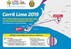 Lima 2019: este viernes la policía restringirá el tránsito en diversas vías del Callao