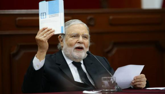 Ernesto Blume, presidente del TC, negó que haya tintes políticos en el fallo sobre Keiko Fujimori. (Foto: GEC)