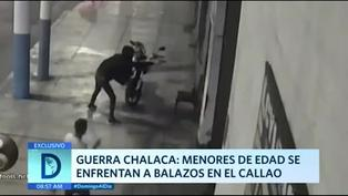 Guerra chalaca: menores se enfrenta a balazos en el Callao