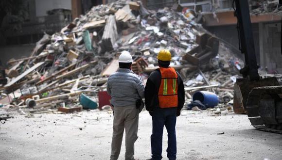 Ciudad de México se vio afectada por dos terremotos de magnitud 8,2 y 7,1 en septiembre, este último causando la muerte de 369 personas y el daño de 38 estructuras. (Foto: AFP)