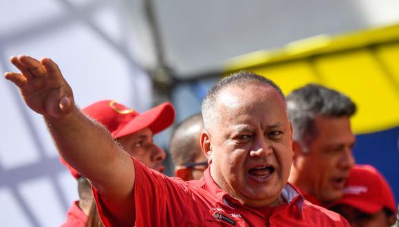 Diosdado Cabello ganó a El Nacional una demanda por difamación tras la reproducción de un reporte del periódico español ABC que lo vinculaba con narcotráfico. (FEDERICO PARRA / AFP).