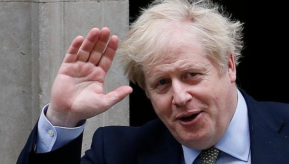 Boris Johnson en una imagen del 18 de marzo del 2020. Estuvo internado por coronavirus Covid-19 (AFP / Adrian DENNIS).