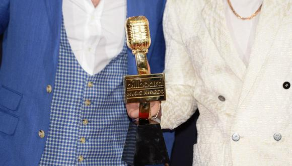 El trofeo de los Billboard Music Awards 2021, una de las ceremonias más importantes de la industria musical. (Foto: Bridget Bennett/ AFP)