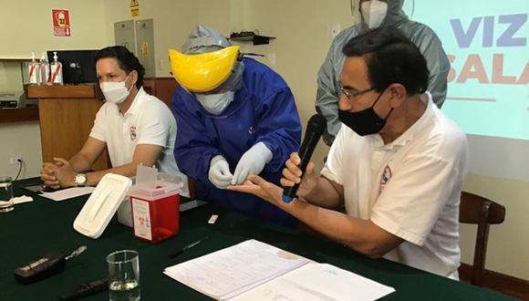 Martín Vizcarra es cuestionado por recibir la vacuna Sinopharm cuando esta era candidata y mantener la información en secreto. (Foto: Ernesto Suárez/Colaborador de El Comercio)