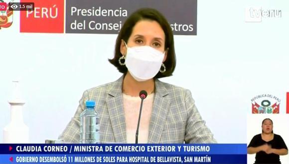 Integrantes del Ejecutivo brindaron conferencia de prensa. (Foto: PCM)