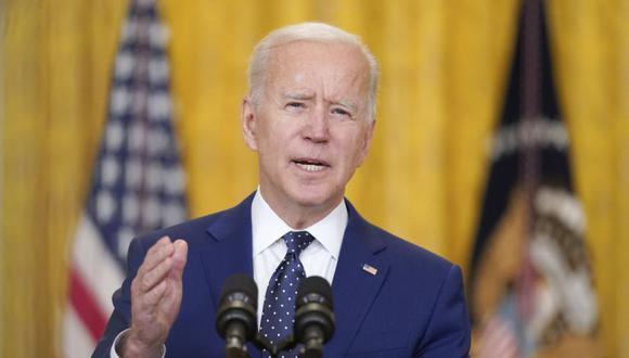 El presidente Joe Biden habla sobre Rusia en el Salón Este de la Casa Blanca en Washington. (Foto: AP / Andrew Harnik)