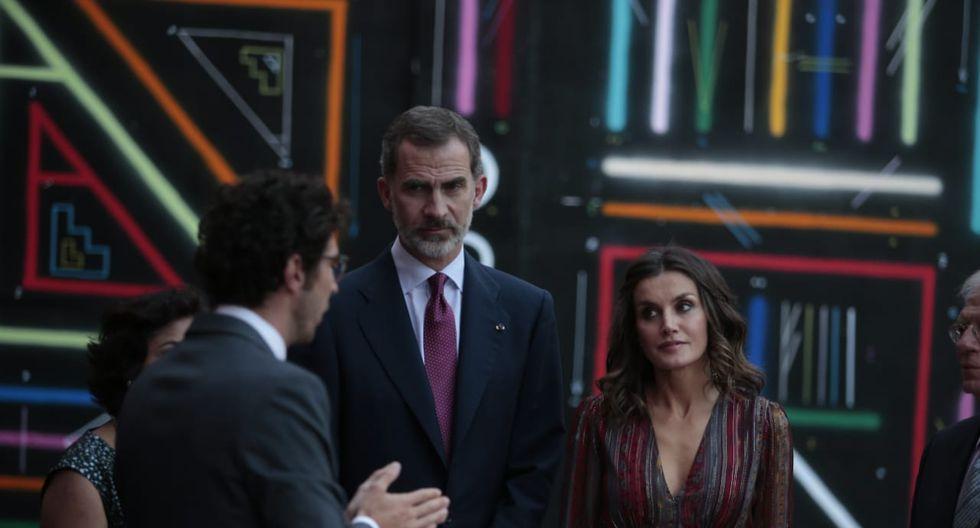 Visita de los reyes Felipe VI y Letizia al Centro Cultural de España de Lima (Foto: Hugo Pérez / El Comercio)