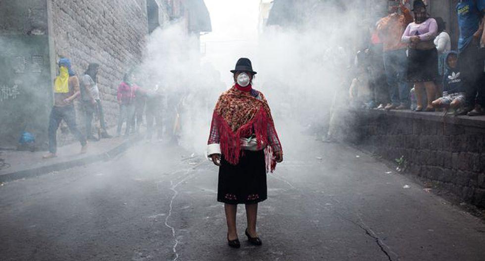 La mujer de la foto viral provenía de la provincia de Cotopaxi. (DAVID DÍAZ ARCOS, GENTILEZA AGENCIA BLOOMBERG).