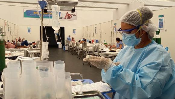 En cuanto a los enfermeros fallecidos por COVID-19, La Rosa precisó que solo este año han fallecido 18 miembros de su gremio y que en este momento reportan 33 enfermeros en unidades de cuidados intensivos. Foto: Andina