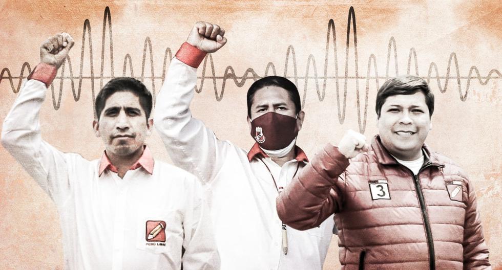 Audios de Los Dinámicos del Centro implican a dirigentes de Perú Libre. (Composición: El Comercio)