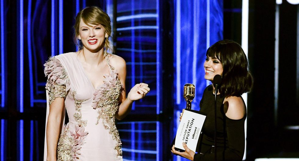 Billboard 2018. Taylor Swift recibe el premio BBMAs a Top álbum en ventas. (Foto: AFP)