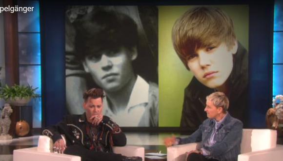 Johnny Depp y su increíble parecido a Justin Bieber [VIDEO]