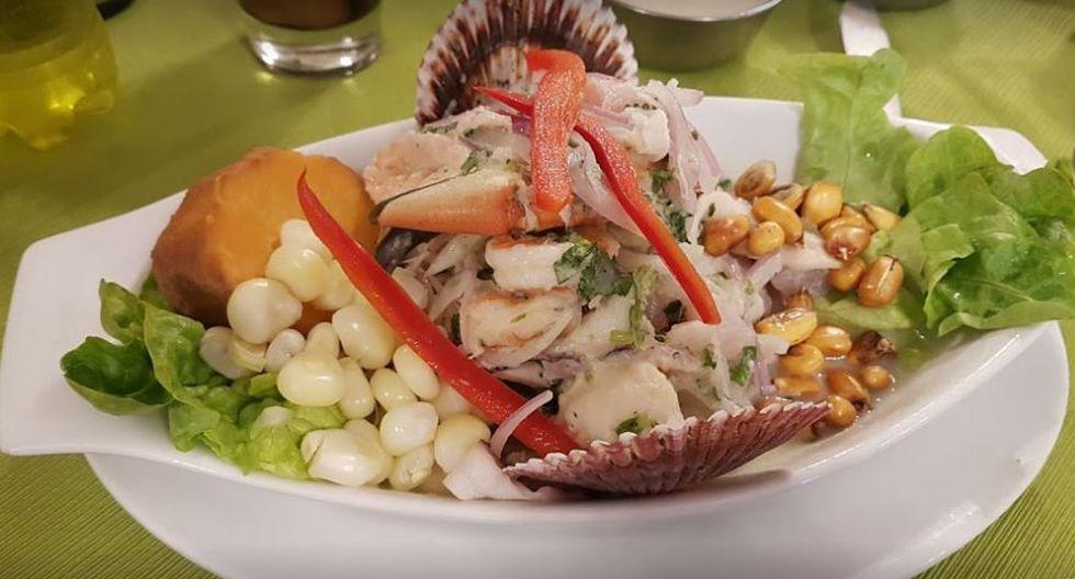 Así es el ceviche que se vende en uno de los 23 locales que tiene Ají Seco, un restaurante peruano.