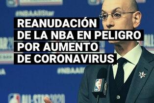 Los positivos por coronavirus se quintuplican en Orlando y la NBA vuelve a peligrar