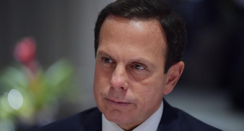 El gobernador del estado brasileño de Sao Paulo, Joao Doria, prorrogó hasta el próximo 22 de abril la cuarentena decretada hace dos semanas. (AFP/NELSON ALMEIDA).