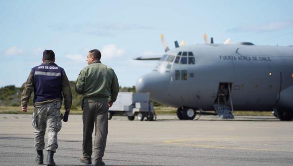 """Chile: """"Hemos recibido hasta la fecha 107 imágenes satelitales"""" sobre accidente de avión Hércules C-130. (AFP)"""