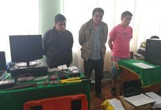 Cajamarca: capturan a banda que robó equipos valorizados en  S/350 mil de empresa