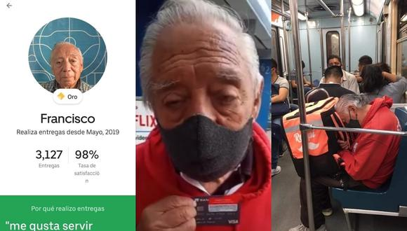 Esta es la segunda vez que Don Panchito se vuelve una sensación viral en redes sociales por el diligente trabajo que realiza. | Crédito: @Jerusitaa / Twitter / Pedro Dragon / YouTube.
