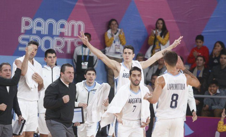 Argentina venció a los Estados Unidos por 114 a 75 por semifinales del básquet masculino de los Juegos Panamericanos Lima 2019 en el Coliseo Eduardo Dibós. (Foto: CABB)