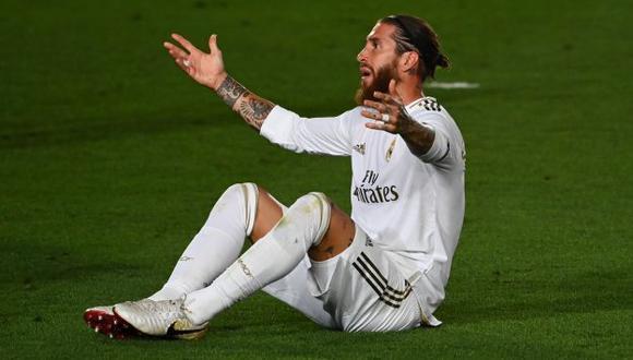 Sergio Ramos se lesionó en el duelo de España ante Alemania por la Liga de Naciones. (Foto: AFP)