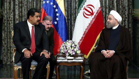 El presidente de Venezuela, Nicolás Maduro, y su homólogo de Irpan, Hassan Rouhani, en una imagen del 22 de octubre del 2016 en Teherán. (AFP).