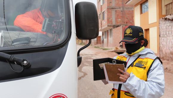 Cusco: detectan que transportistas no desinfectan unidades y no cumplen protocolos anti COVID-19 (Foto: Municipalidad del Cusco)