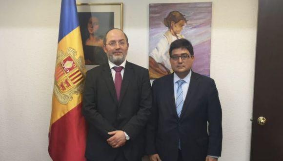 El procurador Jorge Ramírez se reunió con el fiscal general de Andorra, Alonso Alberca Sanvicens. (Foto: Difusión)