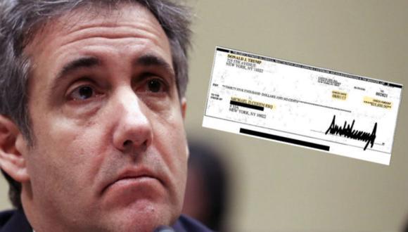El abogado explicó que otros cheques para reembolsarle los pagos en efectivo fueron firmados por el hijo de Trump, Donald Trump Jr. (Foto: Reuters)