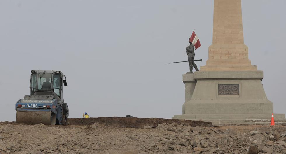La nueva plaza cívica en el Morro estará en la zona contigua al Monumento al soldado desconocido. (Foto: Anthony Niño de Guzmán/GEC)
