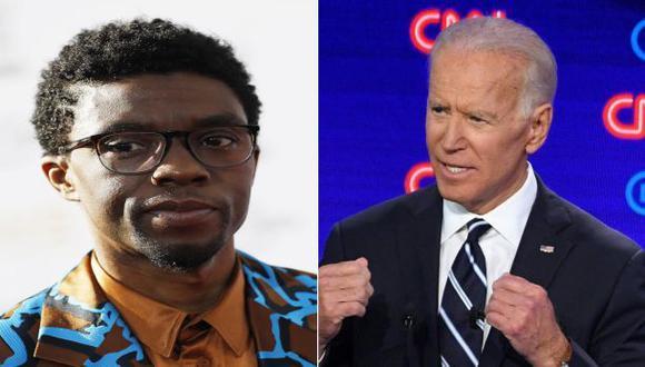 Chadwick Boseman y Joe Biden (Fotos: Agencias)