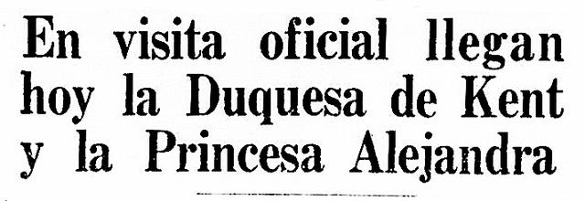 No habían llegado desde 1931 miembros de la Familia Real Británica al Perú. Los últimos fueron los hermanos el príncipe de Gales y el príncipe de Kent, justamente este último el esposo fallecido de la Duquesa de Kent y padre de la princesa Alejandra. (Foto-titular: GEC Archivo Histórico)