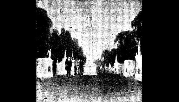 """""""Cuento del sepulturero"""" ilustrado por Juan Manuel Cárdenas Castro y publicado en el libro """"Cuentos"""" de Lastenia Larriva de Llona en 1919."""