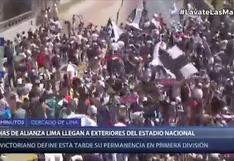 Alianza Lima vs. Sport Huancayo: hinchas blanquiazules abarrotaron la Vía Expresa | VIDEO
