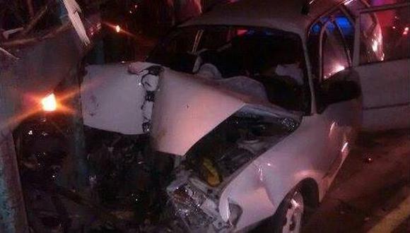 La Libertad: un muerto y 4 heridos deja accidente de tránsito