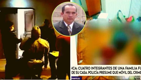 Los cuerpos del abogado Jairo Saldaña y de tres de sus familiares fueron hallados sin vida, la madrugada del miércoles, dentro de su domicilio en la calle Andrés de los Reyes, en Barranca (Captura de video)