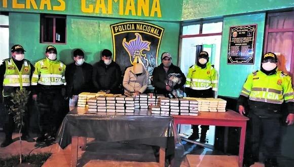 Arequipa: los detenidos serán investigados por tráfico de estupefacientes.