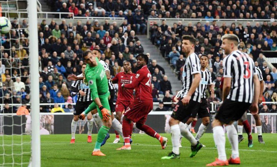 Divock Origi se encargó de anotar el 3-2 en el Liverpool vs. Newcastle en una nueva fecha de la Premier League (Foto: AFP)